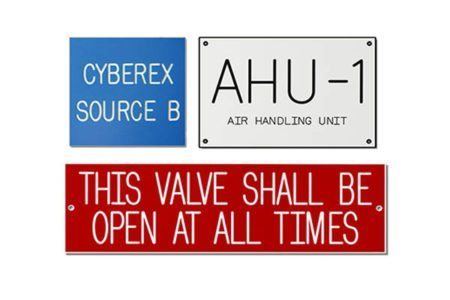 Engraved Plastic Equipment Signs from Marking Services