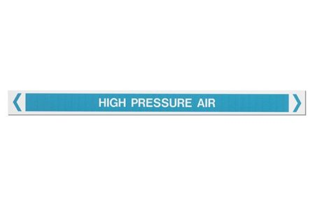 Marking Services Australia MS-900AS self-adhesive high pressure air pipe markers