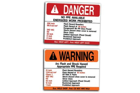 MS-478 Self-Adhesive Polyester Arc Flash Labels with MS-1000 Protective Top Laminate