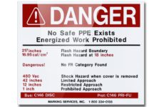 MS-478 with MS-1000 Arc Flash Labels