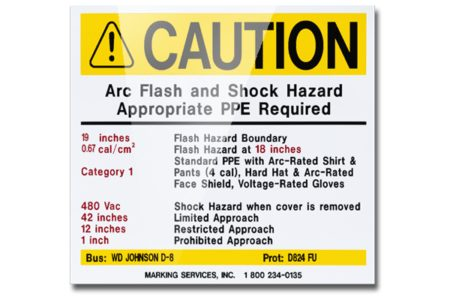 MS-478 Self-Laminating Polyester Arc Flash Labels