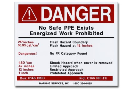 MS-900 Self-Adhesive Arc Flash Labels - Marking Services Australia