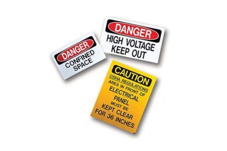 MSA MS-900 Self-Adhesive Safety Signs