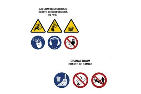 Marking Services Australia offers compartment boards to consolidate Hazard, Mandatory and Prohibition signage.