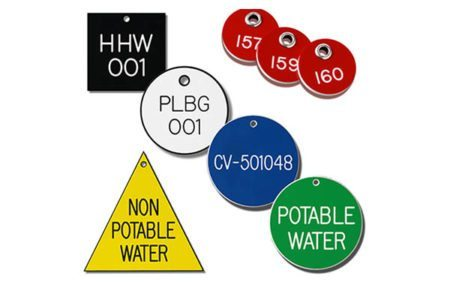 Marking Services Australia engraved plastic valve tags