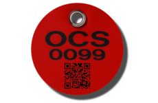 Customization including QR coding and barcode are available on MS-215 Max-Tek Valve Tags from Marking Services Australia