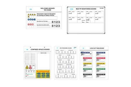 Marking Services Australia operation boards, signs and T-Card boxes